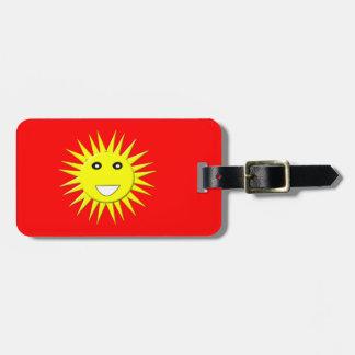 Etiqueta de encargo del equipaje de la sol