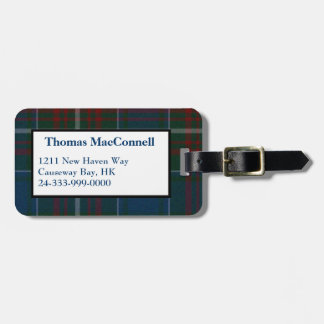 Etiqueta de encargo del equipaje de la tela escoce etiquetas bolsa