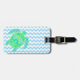 Etiqueta de encargo del equipaje de la tortuga col etiqueta para maleta