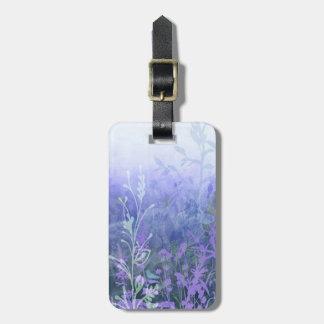 Etiqueta de encargo del equipaje de las lilas etiquetas maleta