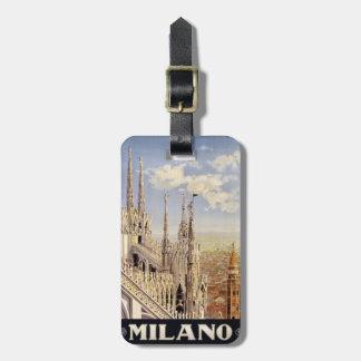 Etiqueta de encargo del equipaje de Milano Milano Etiquetas Bolsa
