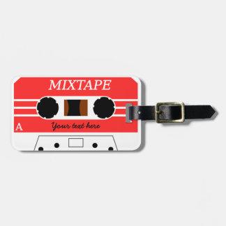 Etiqueta de encargo del equipaje de Mixtape Etiquetas De Maletas