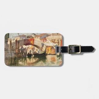 Etiqueta de encargo del equipaje de Venecia de Rou Etiquetas Maletas