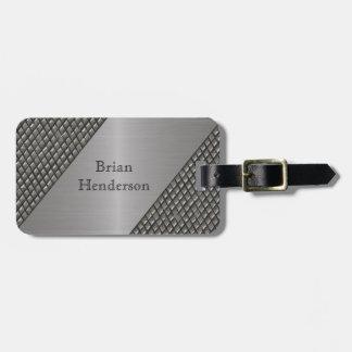 Etiqueta de encargo del equipaje del falso metal d etiquetas bolsa