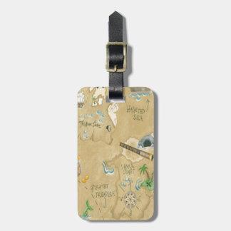 Etiqueta de encargo del equipaje del mapa del pira etiquetas bolsa