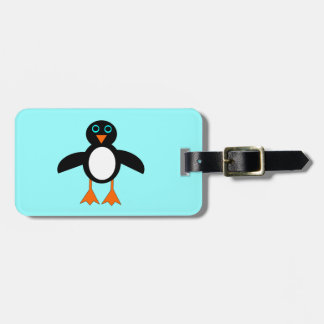 Etiqueta de encargo del equipaje del pingüino lind etiqueta de equipaje