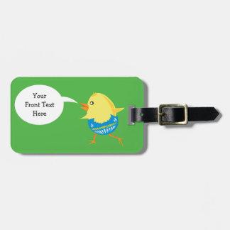 Etiqueta de encargo del equipaje del polluelo de etiquetas para equipaje