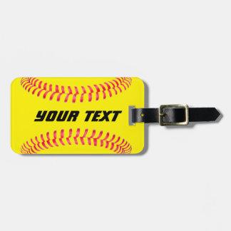 Etiqueta de encargo del equipaje del softball etiquetas maletas