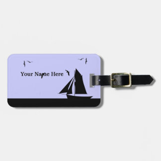 Etiqueta de encargo del equipaje del velero etiqueta para maleta
