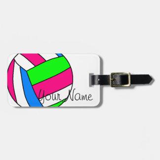 Etiqueta de encargo del equipaje del voleibol