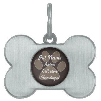 Etiqueta de encargo del mascota de la impresión de placa de mascota