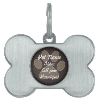 Etiqueta de encargo del mascota de la impresión de placa de nombre de mascota