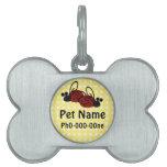 Etiqueta de encargo del mascota de la mariquita placa de nombre de mascota