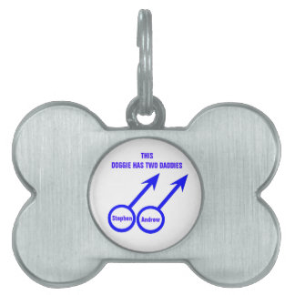 Etiqueta de encargo del mascota de los amantes gay placas mascota