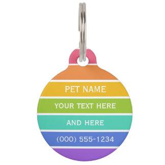 Etiqueta de encargo del mascota de los colores del identificador para mascota