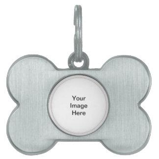 Etiqueta de encargo del mascota del hueso placas de nombre de mascota