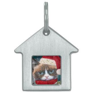 Etiqueta de encargo del mascota del navidad del placas de nombre de mascota