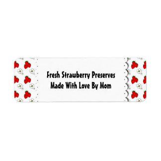 Etiqueta de encargo del modelo de las fresas y de etiqueta de remitente
