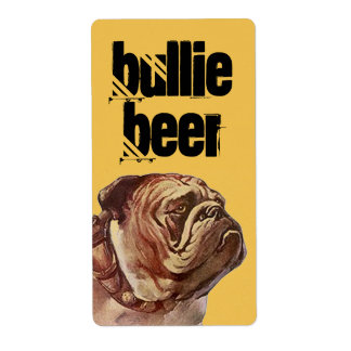 Etiqueta de encargo del perro de Bull del brew Etiqueta De Envío
