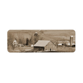 Etiqueta de encargo del remite de granja del vinta etiquetas de remite