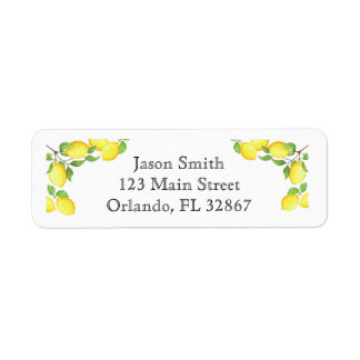 Etiqueta de encargo del remite del limón de la etiquetas de remite
