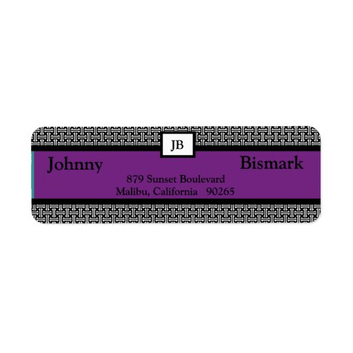 Etiqueta de encargo del remite del monograma etiqueta de remite