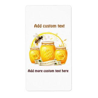 Etiqueta de encargo del tarro del panal de la etiquetas de envío
