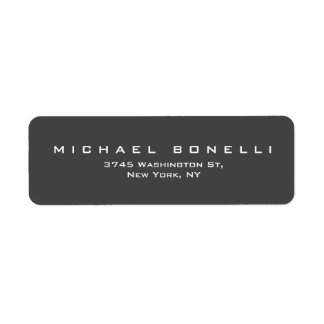 Etiqueta de encargo gris llana simple del remite etiqueta de remitente