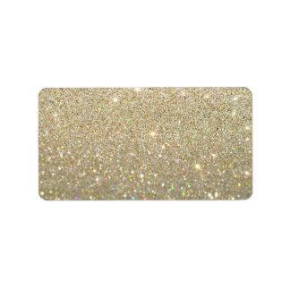 Etiqueta de encargo - oro Glit fabuloso Etiquetas De Dirección