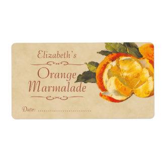 Etiqueta de enlatado anaranjada etiquetas de envío