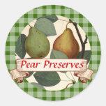 Etiqueta de enlatado de encargo de la fruta de per