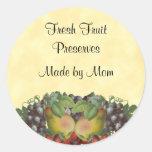 Etiqueta de enlatado de encargo de la fruta del