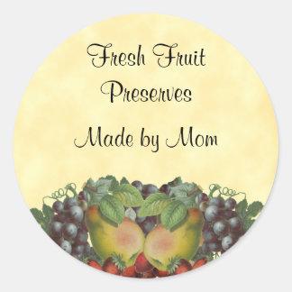 Etiqueta de enlatado de encargo de la fruta del vi