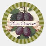 etiqueta de enlatado de encargo del árbol frutal