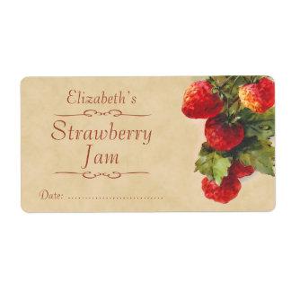 Etiqueta de enlatado de la fresa etiquetas de envío