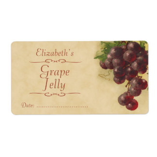 Etiqueta de enlatado de la uva etiquetas de envío