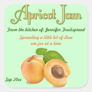 Etiqueta de enlatado del albaricoque de la comida