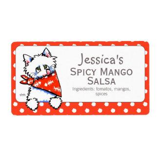 Etiqueta de enlatado del producto del gato del etiqueta de envío