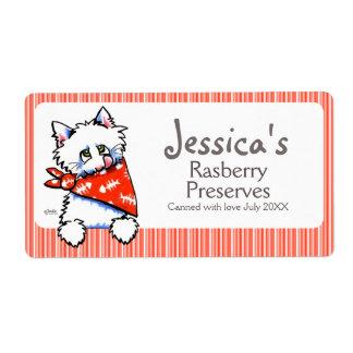 Etiqueta de enlatado del producto del gato del etiquetas de envío