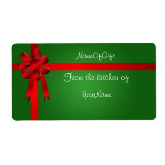 Etiqueta de enlatado del regalo del navidad etiqueta de envío