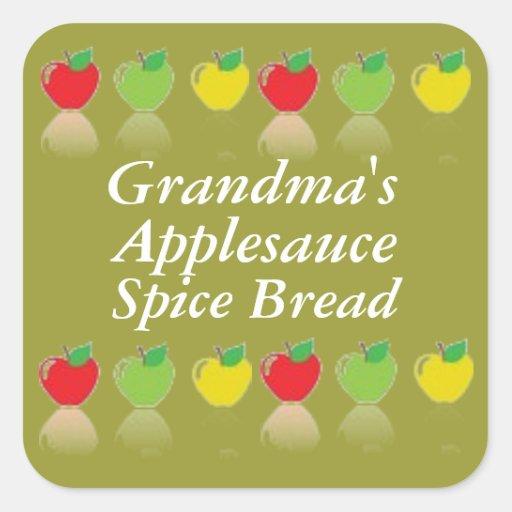 Etiqueta de enlatado personalizada del pan de la
