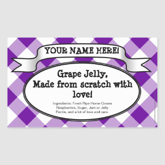 Etiqueta de enlatado personalizada del tarro,