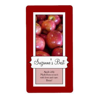 Etiqueta de enlatado personalizada del tarro, Appl Etiqueta De Envío