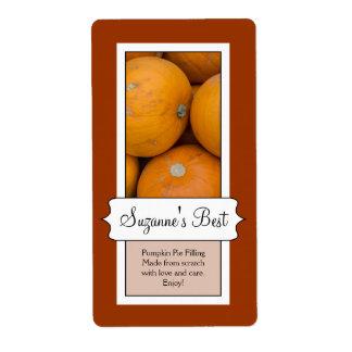 Etiqueta de enlatado personalizada del tarro, cala etiquetas de envío
