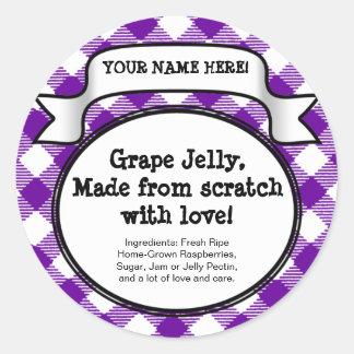 Etiqueta de enlatado personalizada del tarro de la