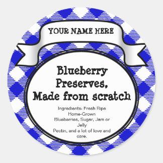 Etiqueta de enlatado personalizada del tarro/de la