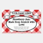 Etiqueta de enlatado personalizada del tarro, jale
