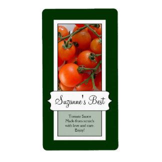 Etiqueta de enlatado personalizada del tarro, toma etiqueta de envío