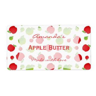 Etiqueta de enlatado personalizada manzanas etiqueta de envío