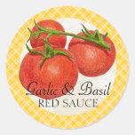etiqueta de enlatado roja de la salsa de tomate de